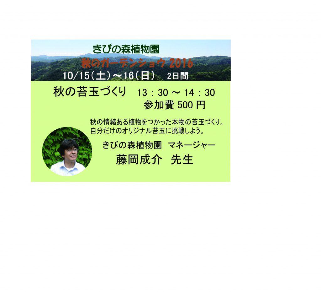 明日、日曜日は苔玉講習会と音楽コンサートがあります。